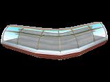 Кондитерская витрина Enteco Немига Extra 375 ВВ(К)