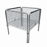 Стол для распродаж хромированный Shols 0401-75-75