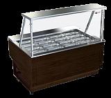 Витрина Glacier «Берта» салатница со стеклом 1,0