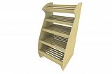 Стеллаж для хлеба Фабрика Авторской мебели Авокадо с надстройкой