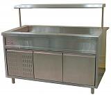 Прилавок холодильный открытый с полкой ТУЛАТОРГТЕХНИКА ПВ(Н)О-1