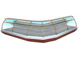 Кондитерская витрина угловая Enteco Немига Extra УН 90 ВВ(К)